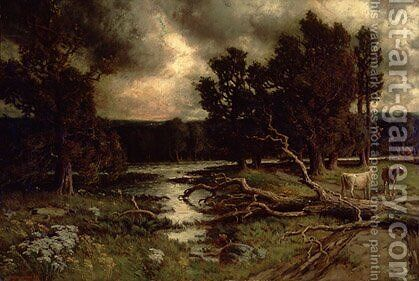 Near the Close of a Stormy Day by Homer Watson - Reproduction Oil Painting
