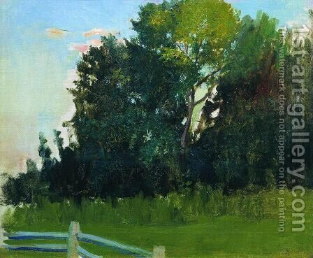 Dunka's Grove. In the estate of Polenovs by Boris Kustodiev - Reproduction Oil Painting