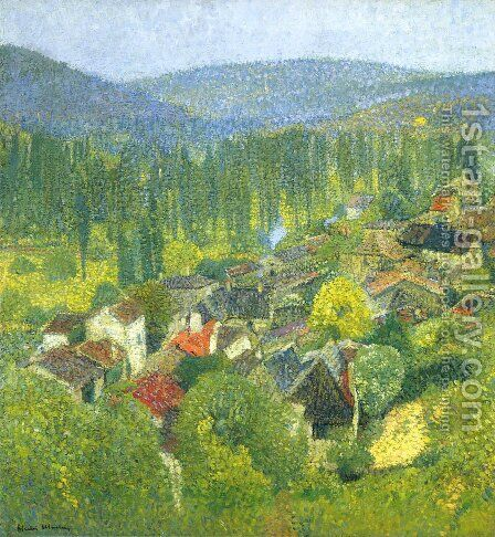 Labastide du Vert 5 by Henri Martin - Reproduction Oil Painting