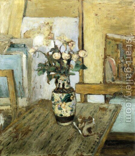 Vase of Flowers 2 by Edouard  (Jean-Edouard) Vuillard - Reproduction Oil Painting
