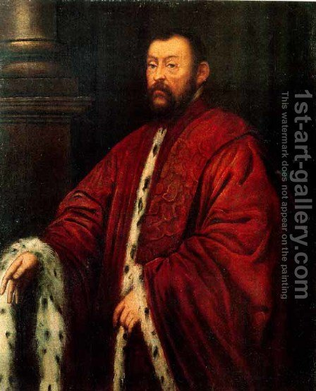 Marcantonio Barbaro by Jacopo Tintoretto (Robusti) - Reproduction Oil Painting