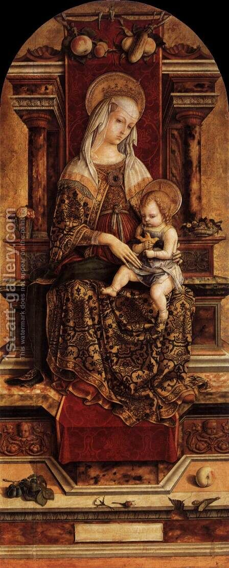 Virgin and Child 2 by Carlo Crivelli - Reproduction Oil Painting