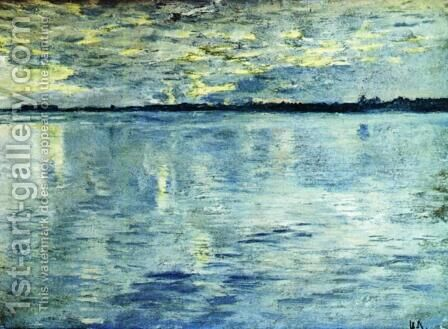 Lake. Evening. by Isaak Ilyich Levitan - Reproduction Oil Painting