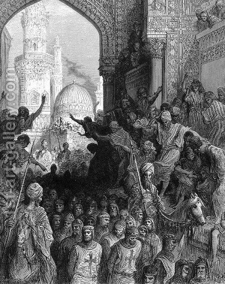 Arrival at Cairo of Prisoners of Minich by Gustave Dore - Reproduction Oil Painting