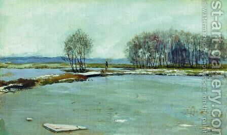 Early spring 3 by Isaak Ilyich Levitan - Reproduction Oil Painting