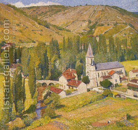 Labastide du Vert 6 by Henri Martin - Reproduction Oil Painting