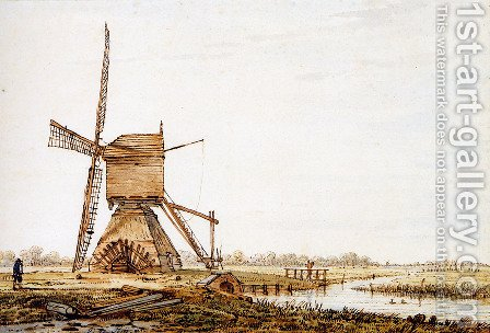 Landscape with watermill by Jacob van Strij - Reproduction Oil Painting