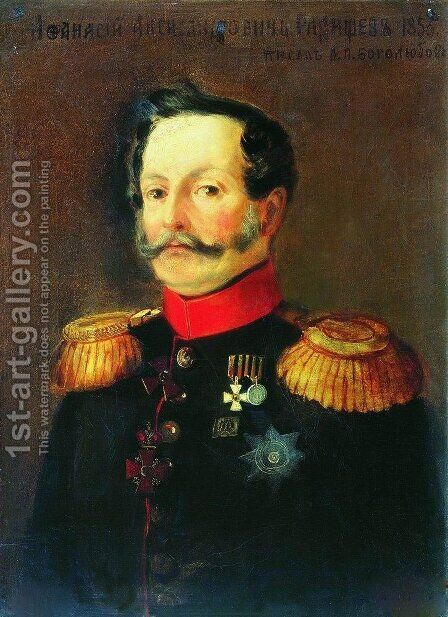 Portrait of A.A. Radischev by Aleksei Petrovich Bogolyubov - Reproduction Oil Painting