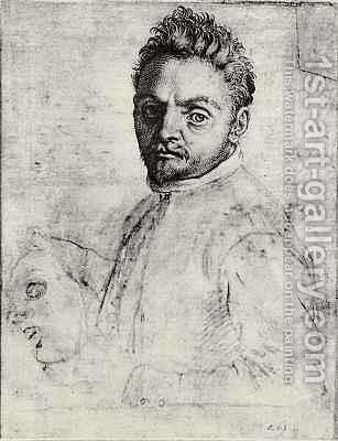 Giovanni Gabrielli, 'il Sivello' by Agostino Carracci - Reproduction Oil Painting
