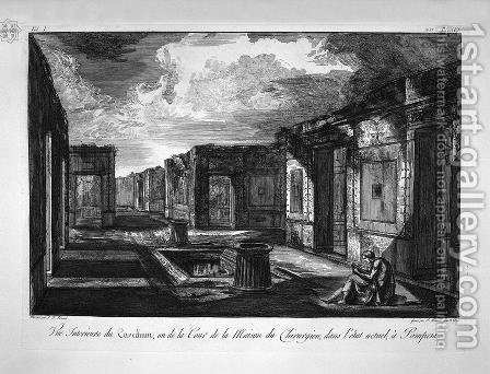 Split of the house aforesaid by Giovanni Battista Piranesi - Reproduction Oil Painting