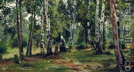 Birch Grove 4 by Ivan Shishkin - Reproduction Oil Painting
