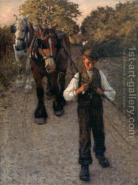 The Plough Boy by Henry Herbert La Thangue - Reproduction Oil Painting