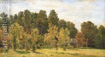 Forest edges by Ivan Shishkin - Reproduction Oil Painting