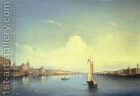 St. Petersburg at Sunset by Aleksei Petrovich Bogolyubov - Reproduction Oil Painting