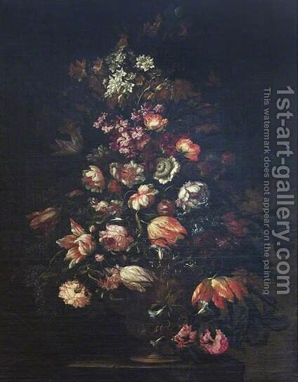 A Flower Piece by dei Fiori (Nuzzi) Mario - Reproduction Oil Painting