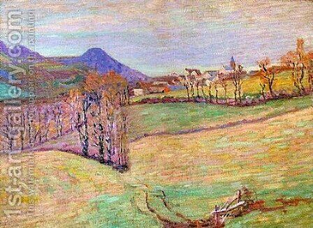 View of Saint-Sauves by Armand Guillaumin - Reproduction Oil Painting