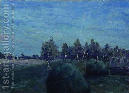 Moonlit landscape by Isaak Ilyich Levitan - Reproduction Oil Painting