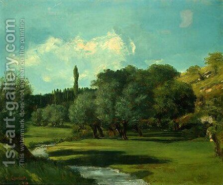 La Bretonnerie in the Department of Indre by Gustave Courbet - Reproduction Oil Painting