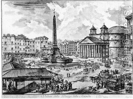 Vedute di Roma 65 by Giovanni Battista Piranesi - Reproduction Oil Painting