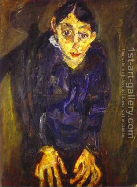 The Mad Woman by Chaim Soutine - Reproduction Oil Painting