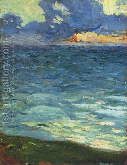 By the Sea by Henri Martin - Reproduction Oil Painting