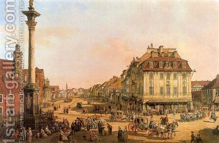 Cracow Suburb seen from the Cracow Gate by Bernardo Bellotto (Canaletto) - Reproduction Oil Painting