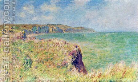 Edge of the Cliff at Pourville 2 by Claude Oscar Monet - Reproduction Oil Painting