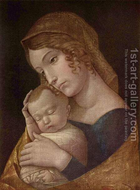 Maria with the sleeping child by Andrea Mantegna - Reproduction Oil Painting