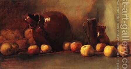 Still Life Jug with Fruit by Guy Rose - Reproduction Oil Painting
