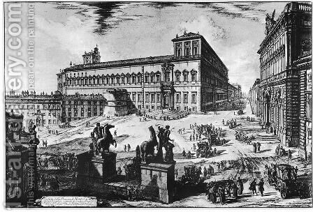 Vedute di Roma 67 by Giovanni Battista Piranesi - Reproduction Oil Painting