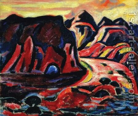 Valley Road by Marsden Hartley - Reproduction Oil Painting