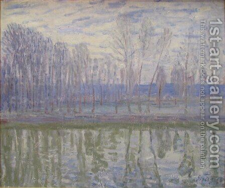 On the Banks of the River Loing by Alfred Sisley - Reproduction Oil Painting
