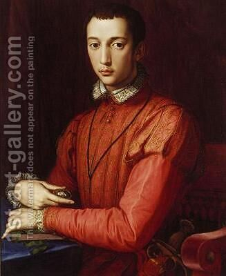 Francesco I de' Medici, Grand Duke of Tuscany by Agnolo Bronzino - Reproduction Oil Painting