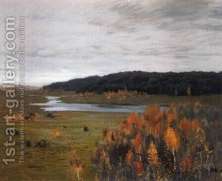 Valley of the River. Autumn. by Isaak Ilyich Levitan - Reproduction Oil Painting