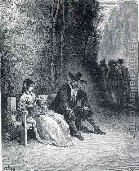Illustration for The Girl by Gustave Dore - Reproduction Oil Painting