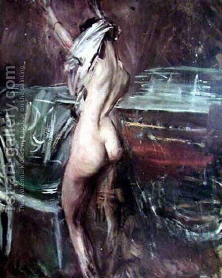 Young Dark Lady by Giovanni Boldini - Reproduction Oil Painting