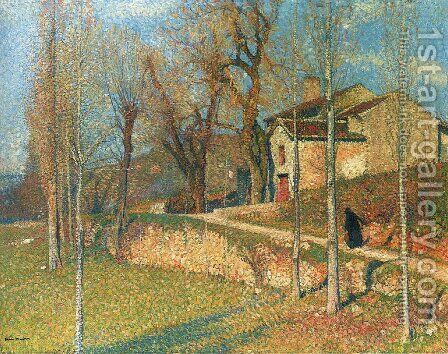 Near Colliure in Twilight by Henri Martin - Reproduction Oil Painting