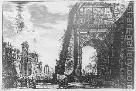 Arco de Tito by Giovanni Battista Piranesi - Reproduction Oil Painting