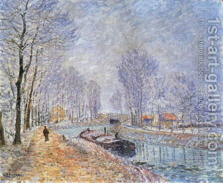 The Seine at Pontoise by Gustave Loiseau - Reproduction Oil Painting
