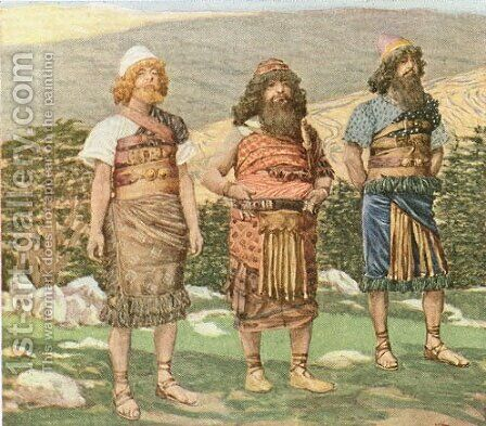 Shem, Ham and Japheth by James Jacques Joseph Tissot - Reproduction Oil Painting