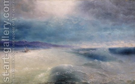 After the storm 2 by Ivan Konstantinovich Aivazovsky - Reproduction Oil Painting