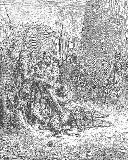 The Death of Abimelech by Gustave Dore - Reproduction Oil Painting