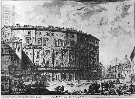 Vedute di Roma 69 by Giovanni Battista Piranesi - Reproduction Oil Painting