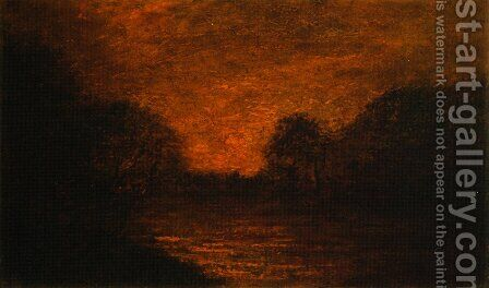 Pond in Moonlight by Albert Pinkham Ryder - Reproduction Oil Painting