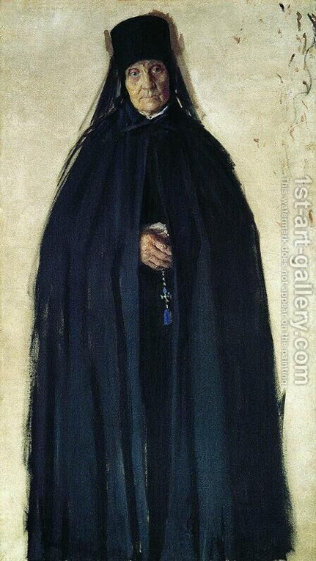 Abbess 2 by Boris Kustodiev - Reproduction Oil Painting