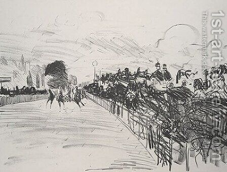 The Races by Edouard Manet - Reproduction Oil Painting