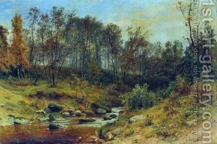 Forest Stream 8 by Ivan Shishkin - Reproduction Oil Painting