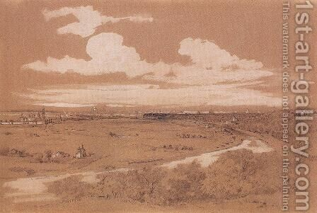 View of Moscow from Sparrow Hills by Alexei Kondratyevich Savrasov - Reproduction Oil Painting