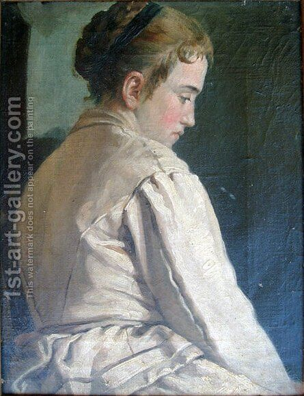 Girl by Ivan Grohar - Reproduction Oil Painting