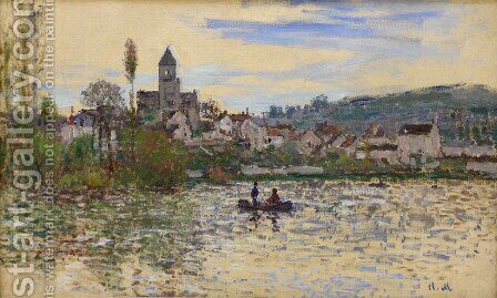 The Seine at Vetheuil 3 by Claude Oscar Monet - Reproduction Oil Painting